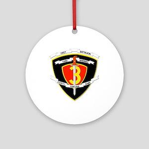 SSI - 1st Battalion - 3rd Marines Ornament (Round)