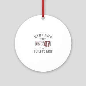Vintage 1947 Birth Year Round Ornament