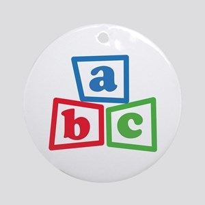 ABC Blocks Ornament (Round)