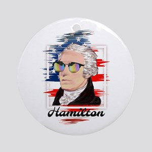 Alexander Hamilton in Color Round Ornament