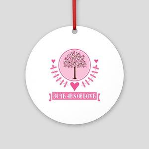 33rd Anniversary Love Tree Ornament (Round)