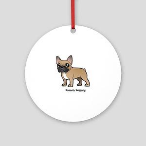 french bulldog Round Ornament