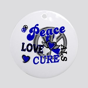 Peace Love Cure ALS 2 Ornament (Round)