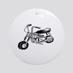 Minibike Round Ornament