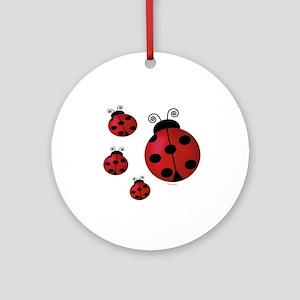 Four ladybugs Ornament (Round)