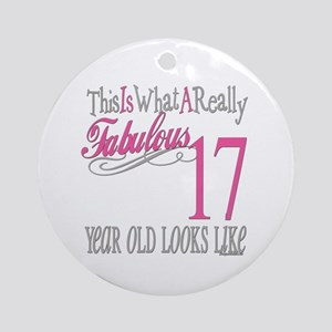 17th Birthday Gifts Ornament (Round)