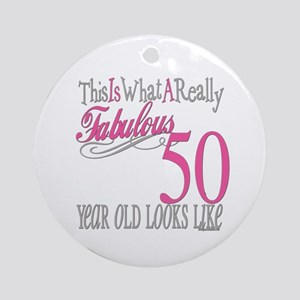 50th Birthday Gifts Ornament (Round)