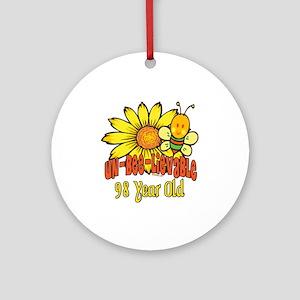 Un-Bee-Lievable 98th Ornament (Round)