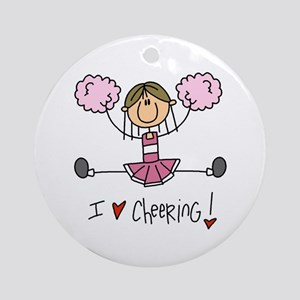 Pink Love Cheering Ornament (Round)
