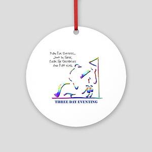 Three Day Eventing Ornament (Round)