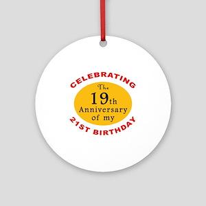 Celebrating 40th Birthday Ornament (Round)