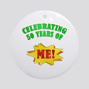 Funny Attitude 50th Birthday Ornament (Round)