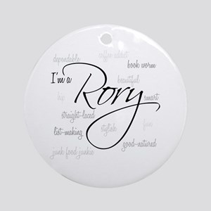 I'm a Rory Ornament (Round)