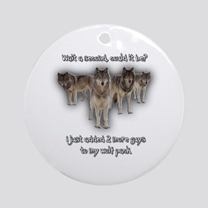 Wolf Pack Ornament (Round)