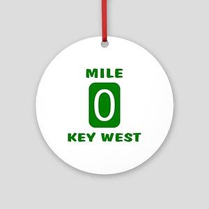 Mile 0 Key West Florida Ornament (Round)
