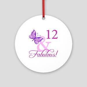 Fabulous 12th Birthday Ornament (Round)