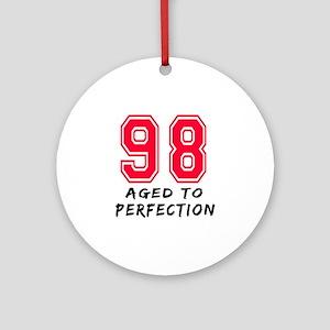 98 Year birthday designs Ornament (Round)