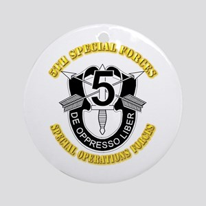 5th Special Forces - DUI Ornament (Round)