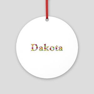 Dakota Bright Flowers Round Ornament