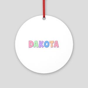 Dakota Rainbow Pastel Round Ornament