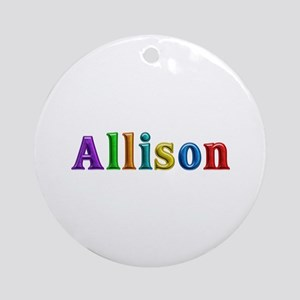 Allison Shiny Colors Round Ornament