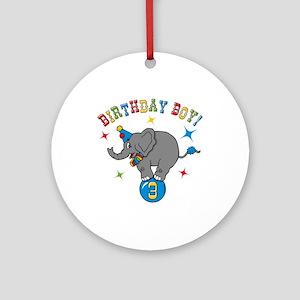 Circus Elelphant 3rd Birthday Boy Ornament (Round)