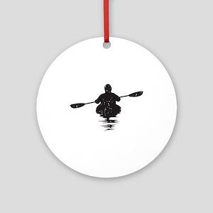 Kayaking Ornament (Round)