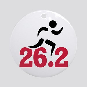 26.2 miles marathon runner Round Ornament