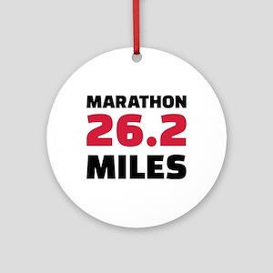 Marathon 26 miles Round Ornament