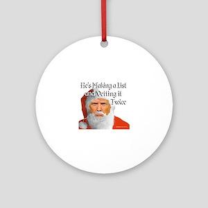 Trump Santa Round Ornament