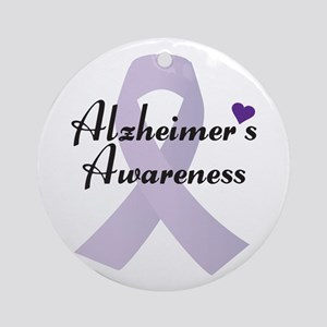 Alzheimers Awareness Ribbon Ornament (round)