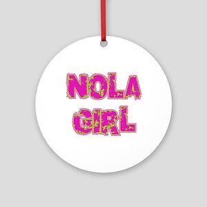 NOLA Girl Ornament (Round)