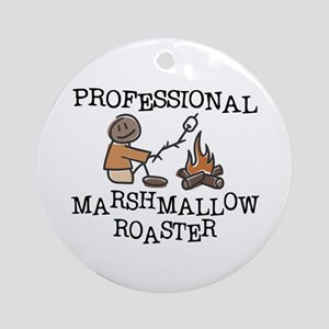 Professional Marshmallow Roaster Ornament (Round)