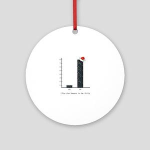 Christmas Bar Graph Round Ornament