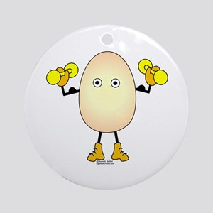 Weight Lifter Egghead Ornament (Round)