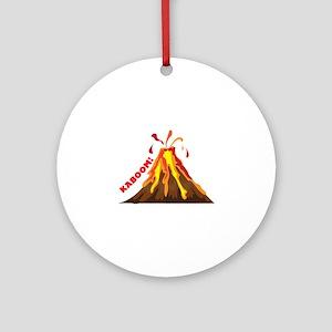 Volcano Kaboom Ornament (Round)