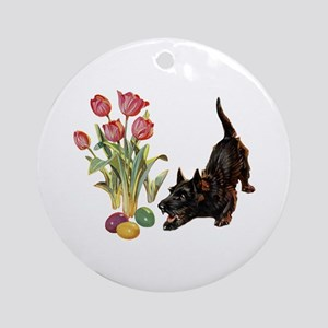 EASTER SCOTTIE Ornament (Round)