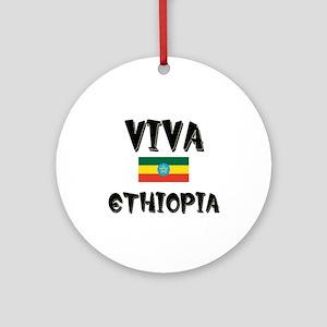 Viva Ethiopia Ornament (Round)