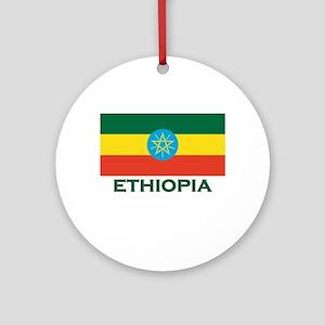 Ethiopia Flag Merchandise Ornament (Round)