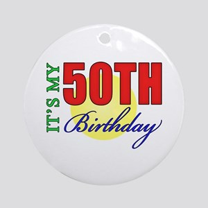 50th Birthday Party Ornament (Round)
