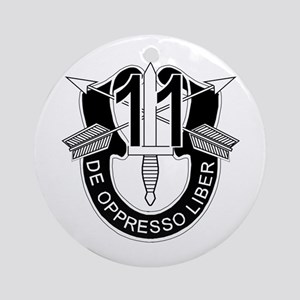 11th Special Forces - DUI - No Tx Ornament (Round)