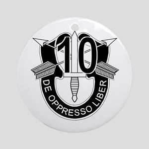 10th Special Forces - DUI - No Tx Ornament (Round)