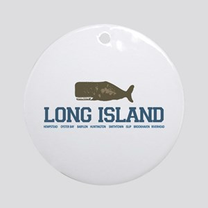 Long Island - New York. Ornament (round)
