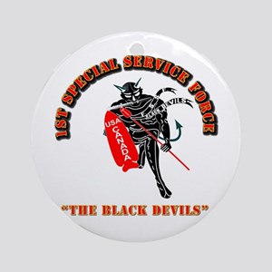 SOF - 1st SSF - Black Devils Ornament (Round)