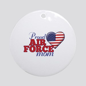 Proud Air Force Mom - Ornament (Round)