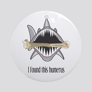 Funny Shark Round Ornament
