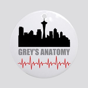 Grey's Anatomy Seatle Round Ornament