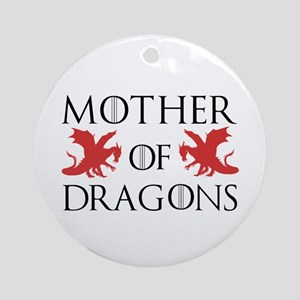 Mother Of Dragons Round Ornament