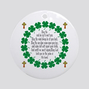 Irish Prayer Blessing Ornament (Round)