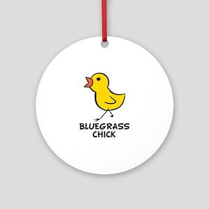 Bluegrass Chick Ornament (Round)